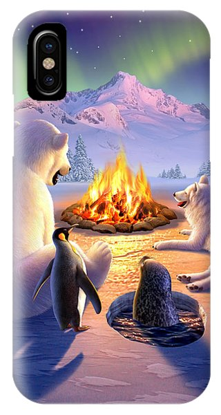 Penguin iPhone Case - Polar Pals by Jerry LoFaro