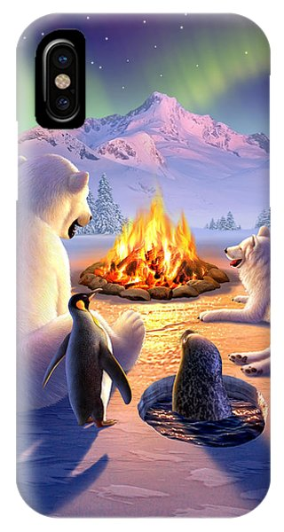 Fire iPhone Case - Polar Pals by Jerry LoFaro