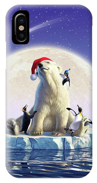 Penguin iPhone Case - Polar Season Greetings by Jerry LoFaro
