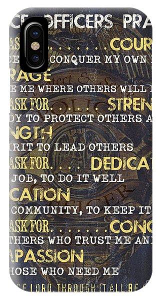 Verse iPhone Case - Police Officers Prayer by Debbie DeWitt