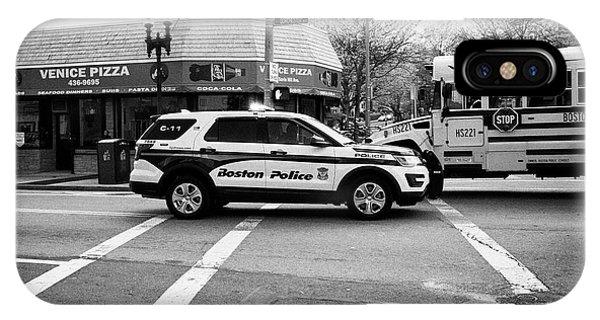 police police ford interceptor suv patrol vehicle on call Boston USA IPhone Case