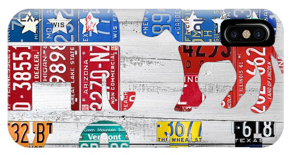 Election iPhone Case - Political Party Election Vote Republican Vs Democrat Recycled Vintage Patriotic License Plate Art by Design Turnpike