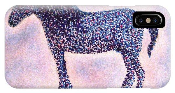 Lavender iPhone Case - Polka Dot Percheron by Angela Davies