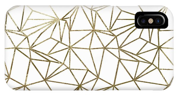 Silver And Gold iPhone Case - Polly Universe II by Mindy Sommers