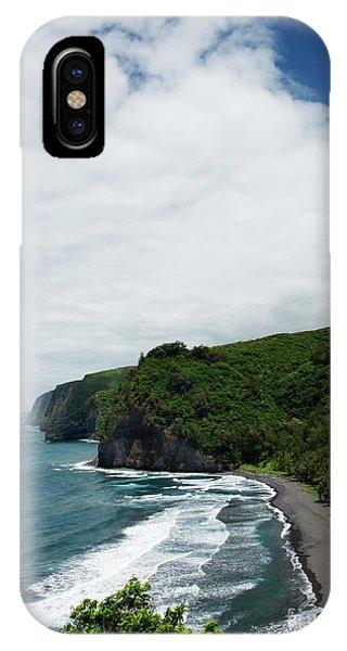 Pololu Valley Black Sand Beach IPhone Case
