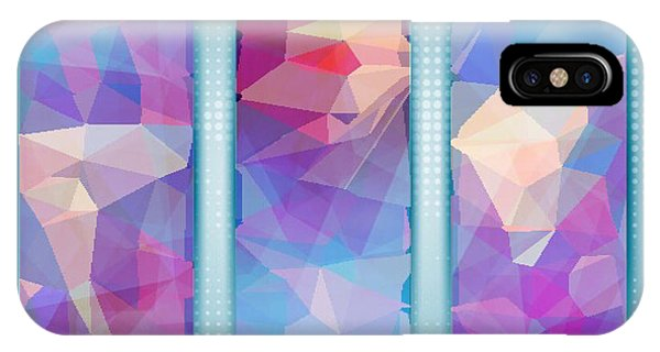 Polygon Abstract In 3 Frames IPhone Case