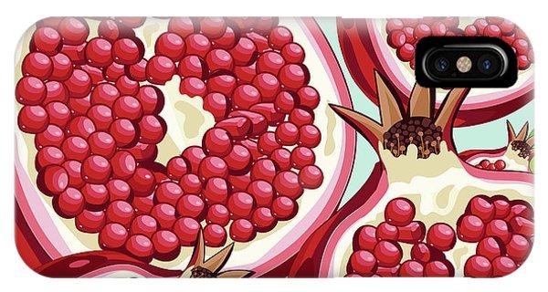 Grapefruit iPhone Case - Pomegranate   by Mark Ashkenazi