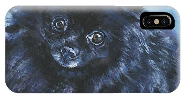 Pomeranian Black IPhone Case