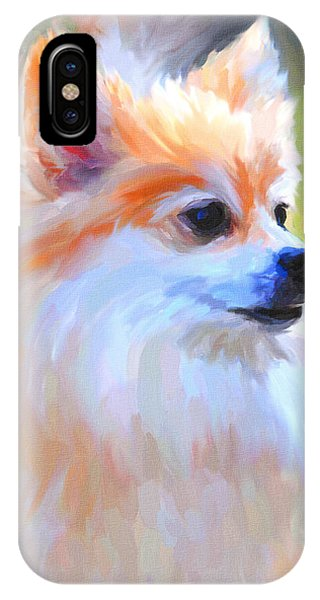 Pomeranian Portrait IPhone Case