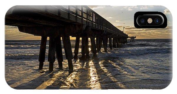 Pompano Beach Fishing Pier At Sunrise Florida Sunrays IPhone Case