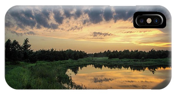 Pond And Sunset IPhone Case