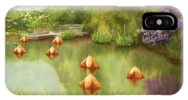 Pond At Olbrich Botanical Garden IPhone Case