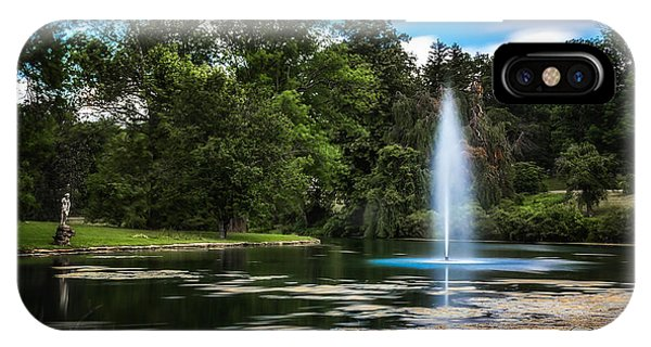 Cemetery iPhone Case - Pond At Spring Grove by Tom Mc Nemar