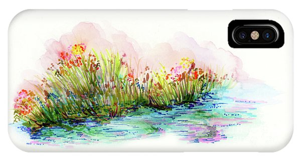 IPhone Case featuring the painting Sunrise Pond by Lauren Heller