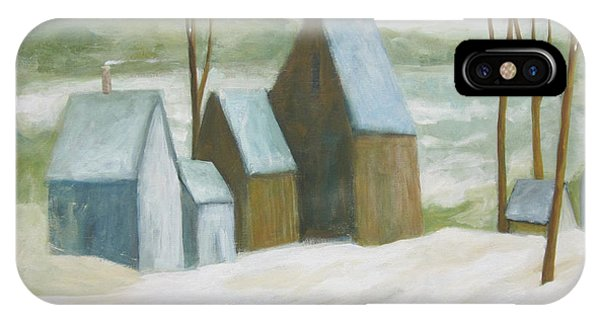 Pond Farm In Winter IPhone Case