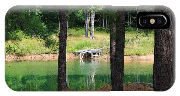 IPhone Case featuring the photograph Pond Side Dock by Rick Morgan