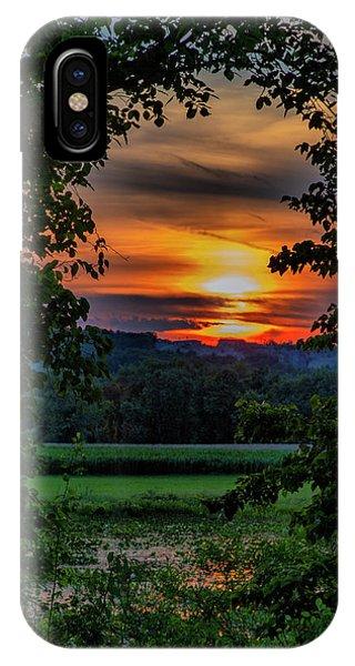 Pond Sunset  IPhone Case