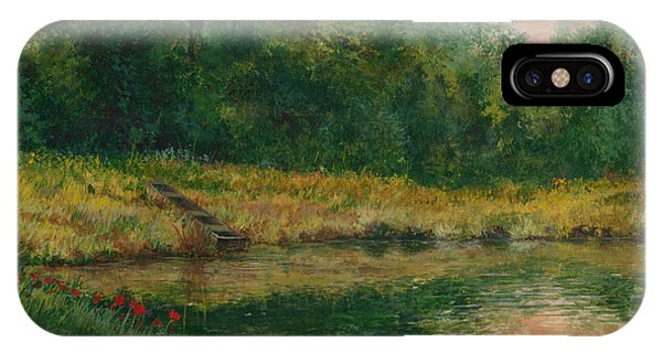 Pond With Spider Lilies IPhone Case