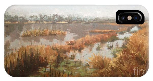 Pondering On A Pond IPhone Case