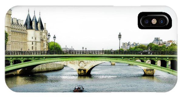 Pont Au Change Over The Seine River In Paris IPhone Case