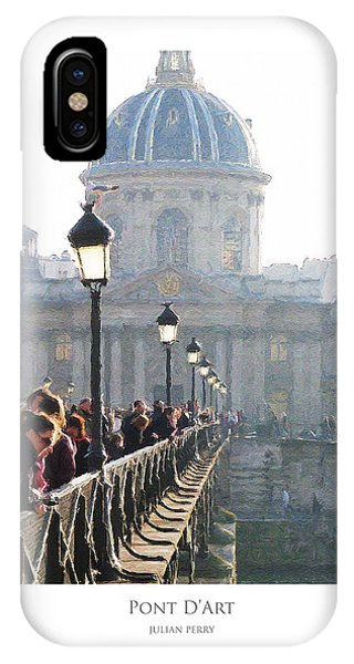 IPhone Case featuring the digital art Pont D'art by Julian Perry