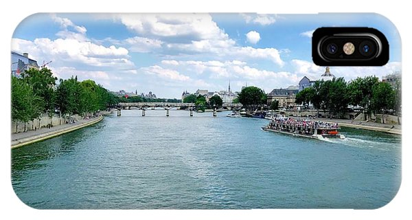 River Seine At Pont Du Carrousel IPhone Case