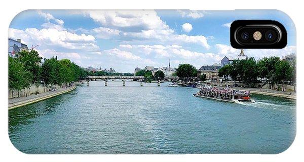 River Seine At Pont Du Carrousel IPhone Case
