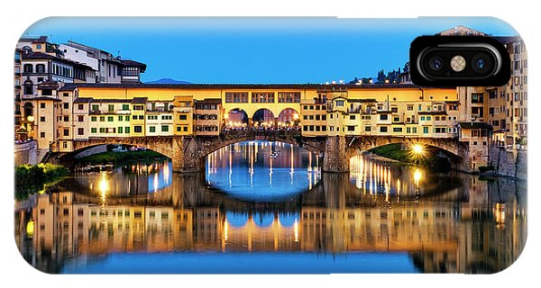 IPhone Case featuring the photograph Ponte Vecchio At Night by Fabrizio Troiani