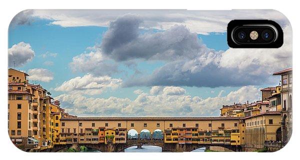 Ponte Vecchio Clouds IPhone Case