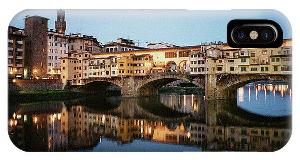 Dick Goodman iPhone Case - Ponte Vecchio by Dick Goodman
