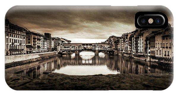 Ponte Vecchio In Sepia IPhone Case