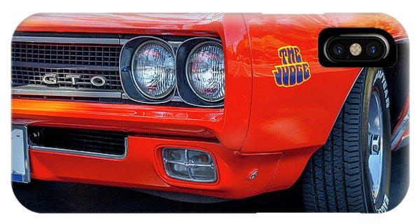 Pontiac G T O Judge 1969 Convertible IPhone Case