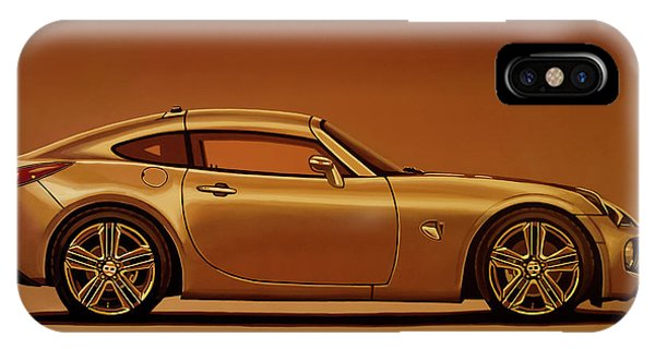 Oldtimer iPhone Case - Pontiac Solstice Coupe 2009 Painting by Paul Meijering