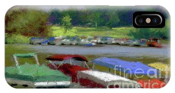 Pontoon Boats At Charles Mill Lake Phone Case by Terri  Meyer