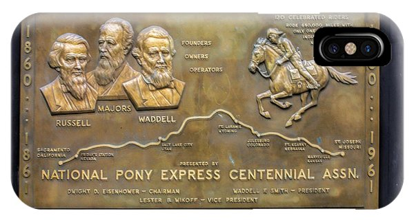 Pony Express Brass Plaque IPhone Case