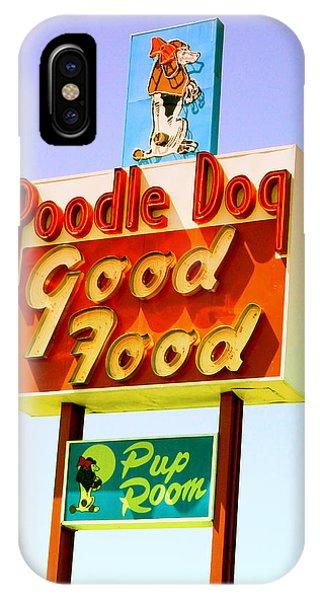 Poodle Dog Diner IPhone Case