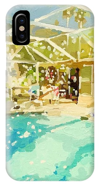 Pool And Screened Pool House IPhone Case