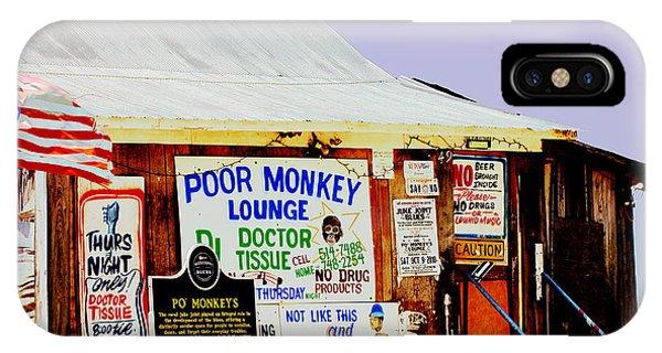 Poor Monkey's Juke Joint IPhone Case
