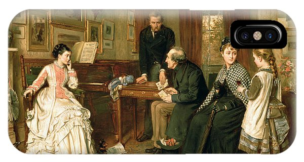 Poor iPhone Case - Poor Relations by George Goodwin Kilburne