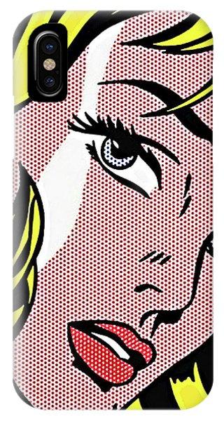 Blond iPhone Case - Pop Art Blond Woman, Roy Lichtenstein by Long Shot