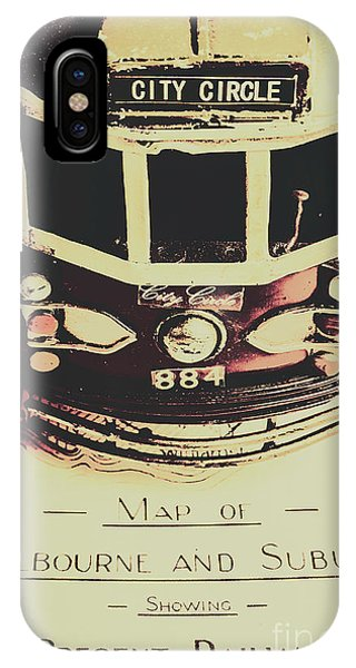 Passenger Train iPhone Case - Pop Art City Tours by Jorgo Photography - Wall Art Gallery
