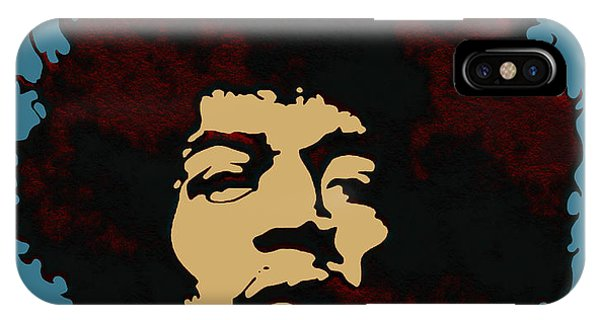 IPhone Case featuring the digital art Pop Art Jimi Hendrix by Joy McKenzie