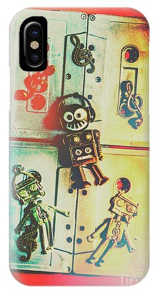 Punk Rock iPhone Case - Pop Art Music Robot by Jorgo Photography - Wall Art Gallery