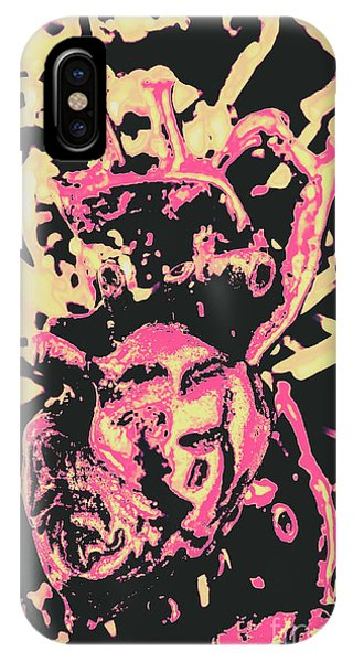 Funky iPhone Case - Pop Art Poster Heart by Jorgo Photography - Wall Art Gallery