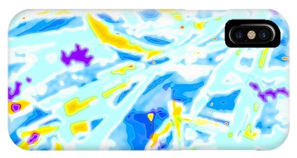 IPhone Case featuring the digital art Pop Art Swirls And Shapes by Joy McKenzie
