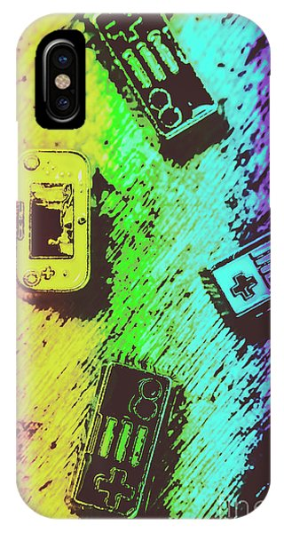 Electronic iPhone Case - Pop Art Video Games by Jorgo Photography - Wall Art Gallery