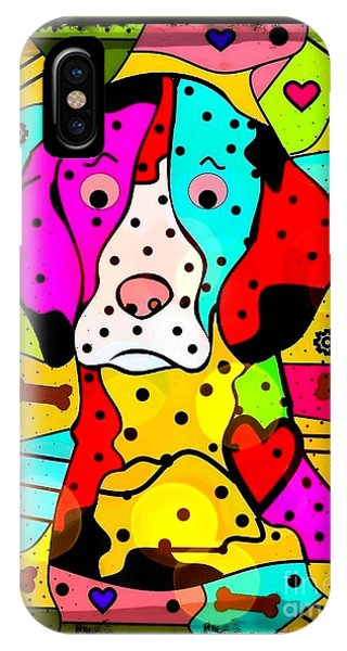 Popart Dog By Nico Bielow IPhone Case