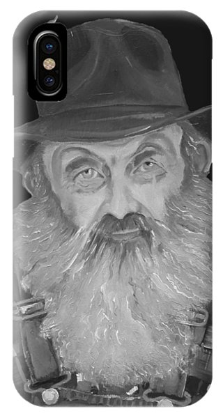 Popcorn Sutton Moonshiner Bust - T-shirt Transparent B And  W IPhone Case
