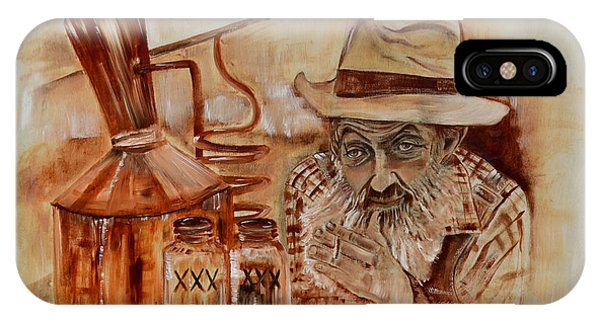 Popcorn Sutton - Waiting On Shine IPhone Case