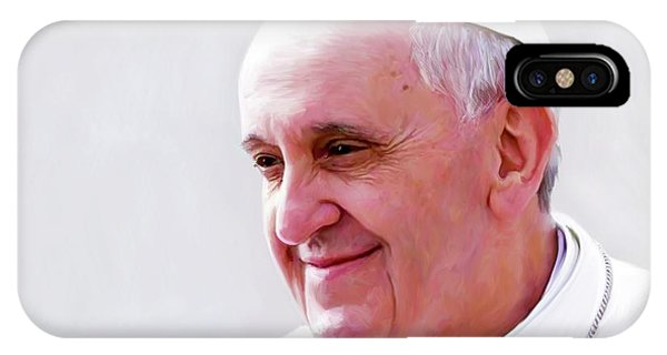 Nobel iPhone Case - Pope Francis by Paul Tagliamonte